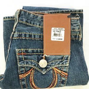 True Religion Bell Bottom Joey Rainbow Jeans  29